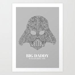 Darth Vader Illustration Art Print