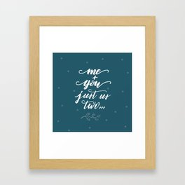 Me + you, just us two Framed Art Print