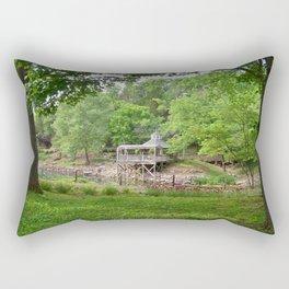 Blue Spring Splendor Rectangular Pillow