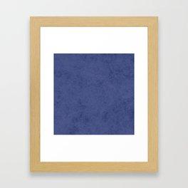 Blue suede Framed Art Print