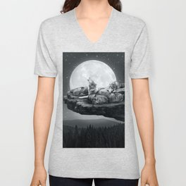 Echoes of a Lullaby Unisex V-Neck
