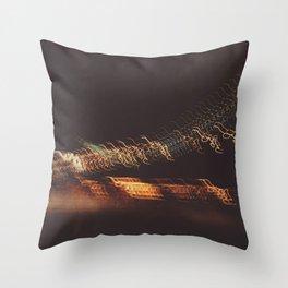 Bay Bridge California Night Throw Pillow