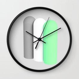 Tubes green Wall Clock
