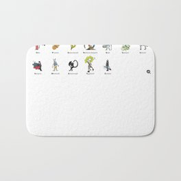 A-Z of Monsters & Mythology Bath Mat