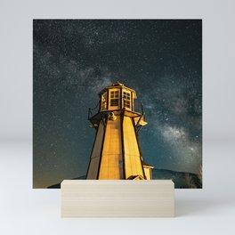 Mountain Light House Two Mini Art Print