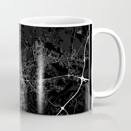 Minimal City Maps - Map of Zagreb Coffee Mug