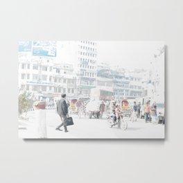 Asia City Painting Metal Print