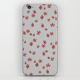 Peppermint Candy in Grey iPhone Skin