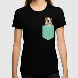 Roscoe - English bulldog dog dogs pet pets gifts for dog person dog people  T-shirt