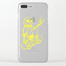 skate skelleton Clear iPhone Case