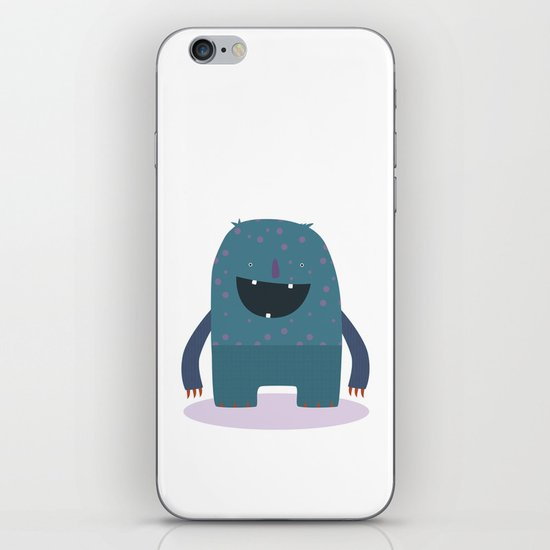 BLUE MONSTER iPhone & iPod Skin