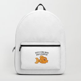 Just a Girl Who Loves Goldfishes Cute Goldfish Girl Backpack