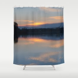 Concept : Water reflection Shower Curtain
