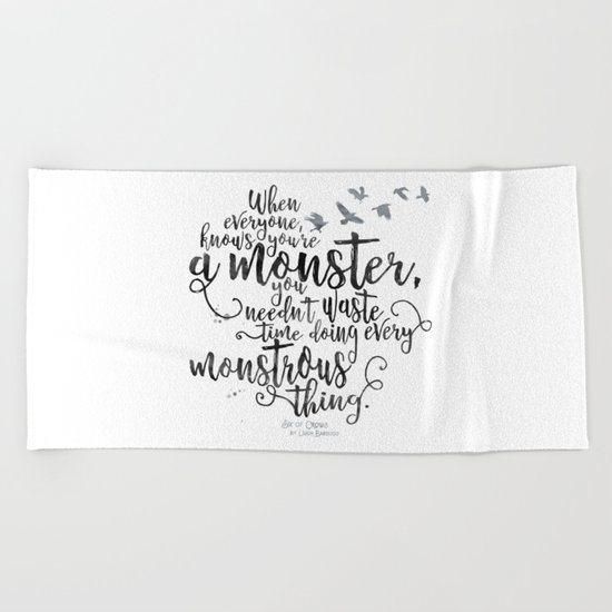 Six of Crows - Monster - White Beach Towel