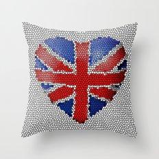 The Union Flag ~ Love Throw Pillow