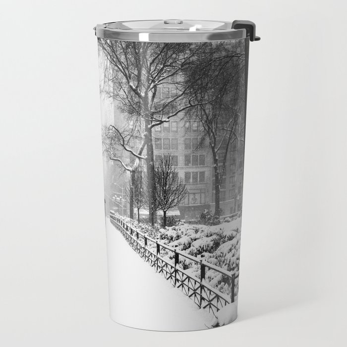NYC Snow Day – Union Square Blizzard New York Travel Mug