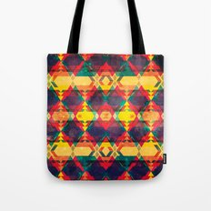 Green Abstract Diamond Tote Bag