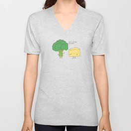 Broccoli and cheese Unisex V-Neck