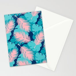 Tropical palm leaves Stationery Cards