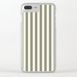 Beige Stripes Pattern Clear iPhone Case