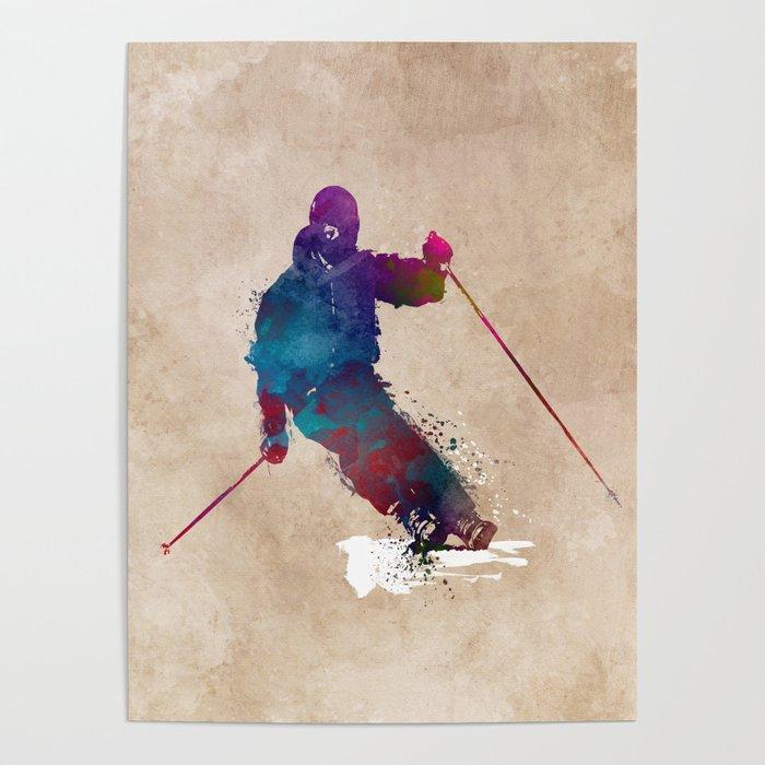 alpine skiing #ski #skiing #sport Poster