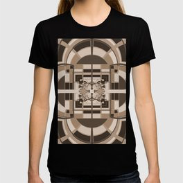 Brown Geometric Abstract T-shirt
