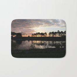 Early Morning By the Lake Bath Mat