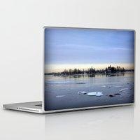finland Laptop & iPad Skins featuring helsinki (finland) - island by aune