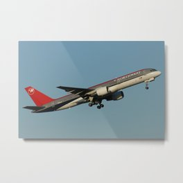 Northwest 757-200 takeoff Metal Print