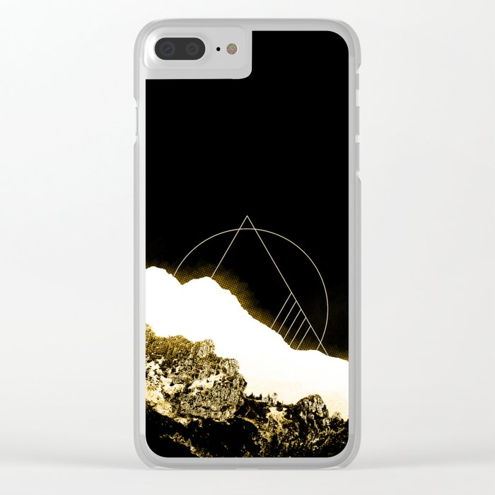 Golden Mountain Clear iPhone Case