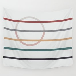for Love || stripes & circle Wall Tapestry