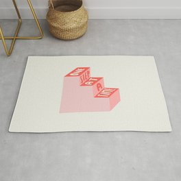 One Step at a Time in pink Rug