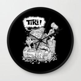 Tiki Carver... Rat Fink Monster Chisler! Wall Clock