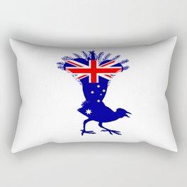 Australian Flag - Lyrebird Rectangular Pillow