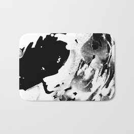 Keep Our Oceans Icy and Black and White Bath Mat