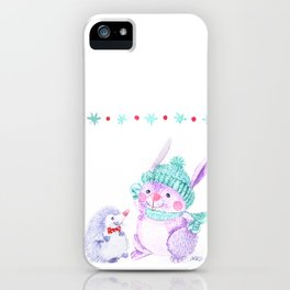 Rabbit and Hedgehog iPhone Case