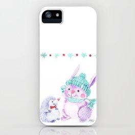 Rabbit and Hedgehog iPhone Case