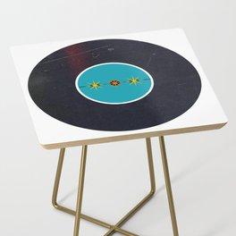 Vinyl Record Art & Design | Mid-Century Modern Starburst Side Table