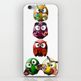 Owls Family iPhone Skin