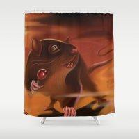 rat Shower Curtains featuring Rat by Brandon Heffron