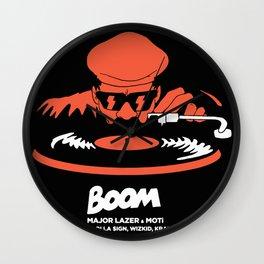 boom major lazer Wall Clock