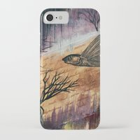 literary iPhone & iPod Cases featuring Literary Flying Fish by Sarah Sutherland