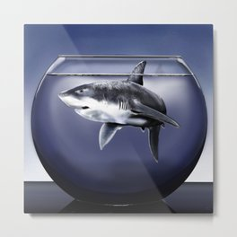Shark bowl Metal Print
