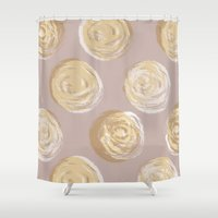 dot Shower Curtains featuring Dot by Katie L Allen