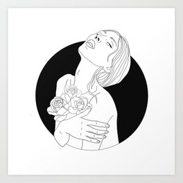 flowers are in her soul Art Print