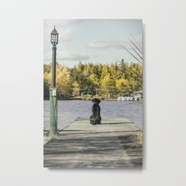 Charlie on the Pier Metal Print