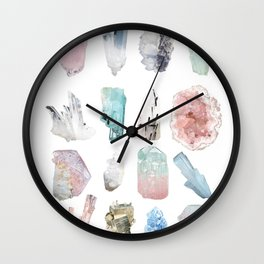 Crystals Wall Clock
