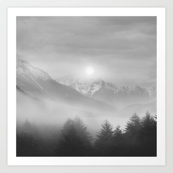 Pastel vibes 11 Black and White Art Print