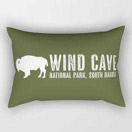 Bison: Wind Cave, South Dakota Rectangular Pillow
