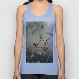 Chinoiserie Style Unisex Tank Top